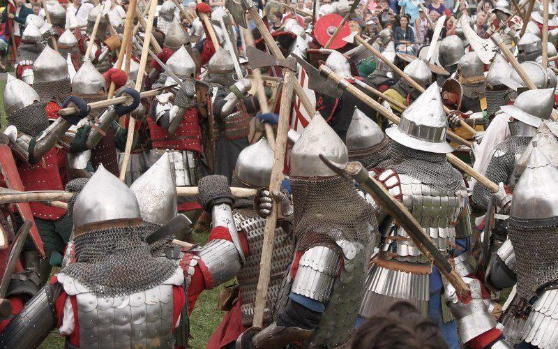 Исторический средневековый бой