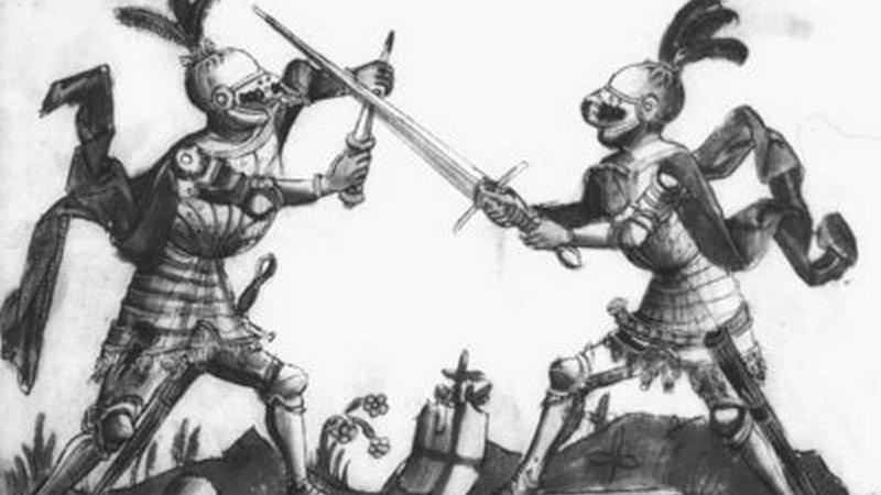 Клубные тренировки фехтованию на мечах