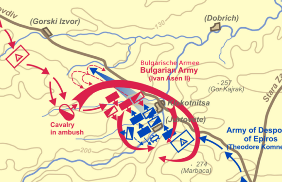 9 марта 1230 года болгары разбили византийцев